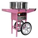 Machine à barbapapa en acier inox professionnelle sur chariot