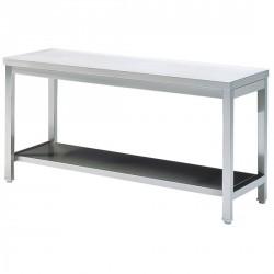 Tavolo da lavoro con mensola, senza piedritto, 900x600 mm
