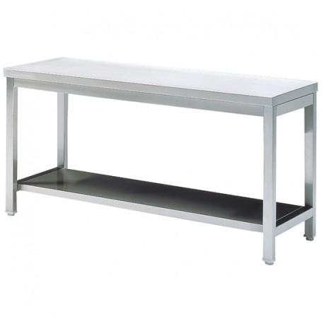 Table de travail avec étagère, sans dosseret, 700x700 mm