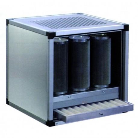 Hotte charbon actif  2500 m³ (avec avant et filtre à charbon actif)