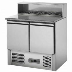 Bancada de preparação de pizzas refrigerada