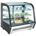 Vitrine réfrigérée professionnelle - inox - 160 litres - 160w - 230v - neuve -