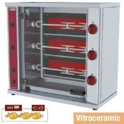 Electric Roastor with 3 skewers for 15 chickens