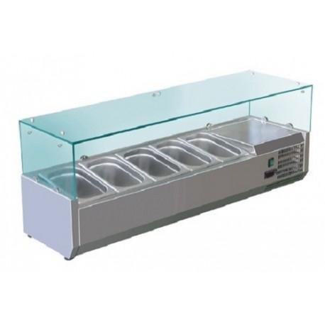 Réfrigéré d'affichage 1,2mx0,34m - pour 5x1 / 4 GN conteneurs
