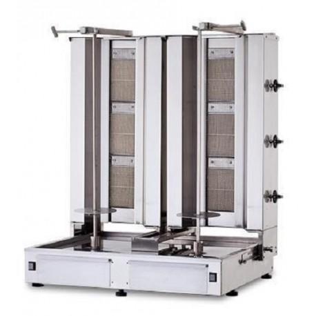 2 x machines à kebab professionnelles à gaz, 2 x 80 kg, 2 x 3 brûleurs, 19,5 KW