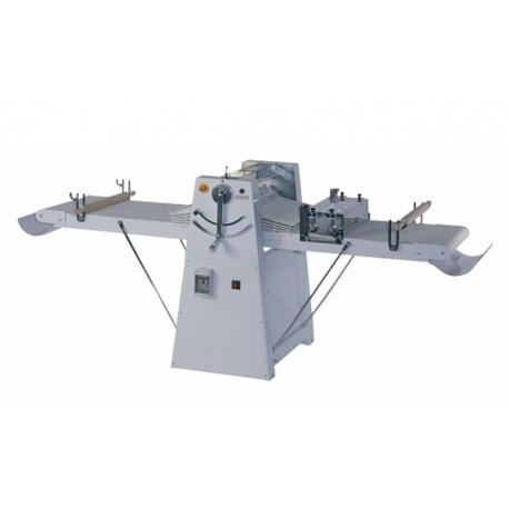 Dough sheeter on castors, cylinders L 600 mm, tables L 1200 mm, variable speed