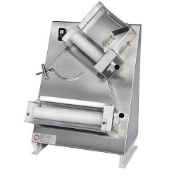 Dough rolling machine with 2 rollers for pizzas ø 14-30 cm
