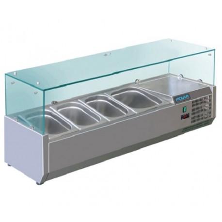 Vitrine réfrigérée à ingrédients 4 Format GN Polar