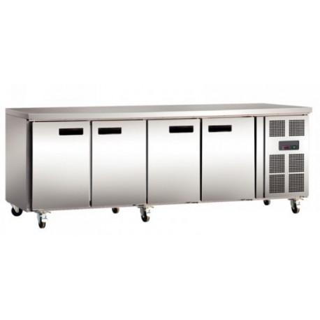 Réfrigération table 2,2mx0,7m - avec 4 portes