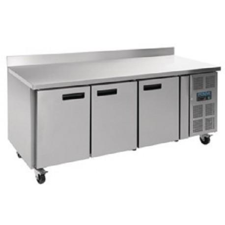 Table réfrigérée 3 portes avec dosseret 417L