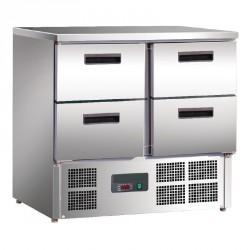 Tavolo refrigerato 4 portes 240L
