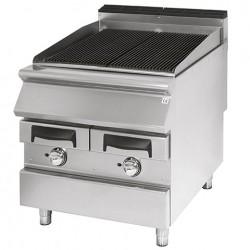 Grill professionnel à vapeur double, zone de cuisson en fonte, à gaz - Série 700