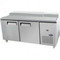 Table de préparation réfrigérée avec 2 portes 60x40, 9x GN 1/3