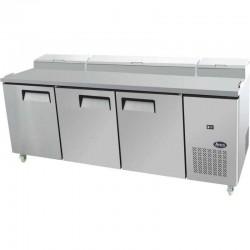 Table de préparation réfrigérée avec 3 portes 60x40, 12x GN 1/3