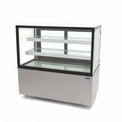 vitrine réfrigéré avec vitre droit, +2 °C/+8 °C, l 1215mm