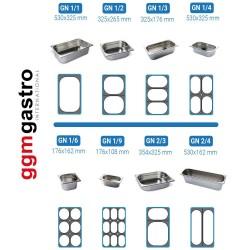 Vitrine chauffante - 1500 x 880 x 1340 mm - 4 x GN 1/1 - granit noir
